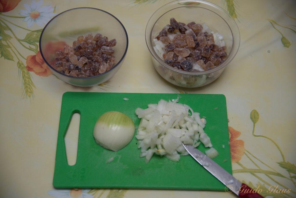 Hustensirup mit Zwiebeln und Kandiszucker
